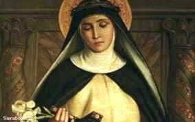 Santa Caterina da Siena, la cui natura era il fuoco.