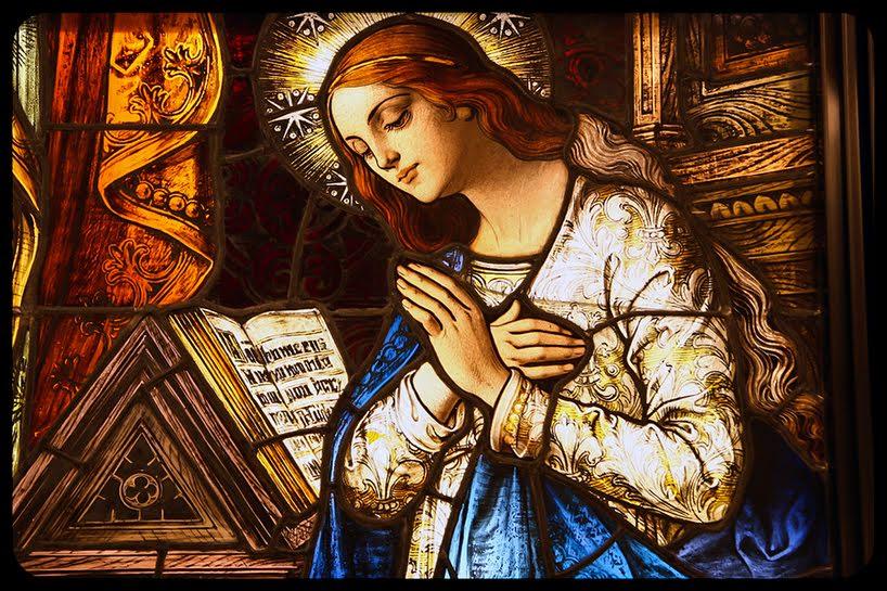 """La Vergine Maria, tre volte """"sposa""""."""