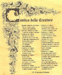 Il Cantico delle Creature: Laudato sii…..