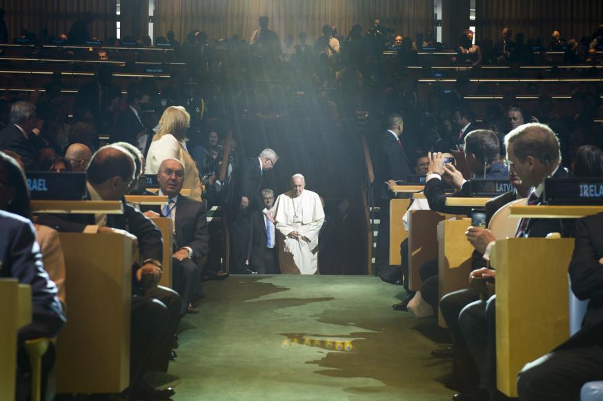 Il discorso di Papa Francesco all'Assemblea Generale dell'ONU.