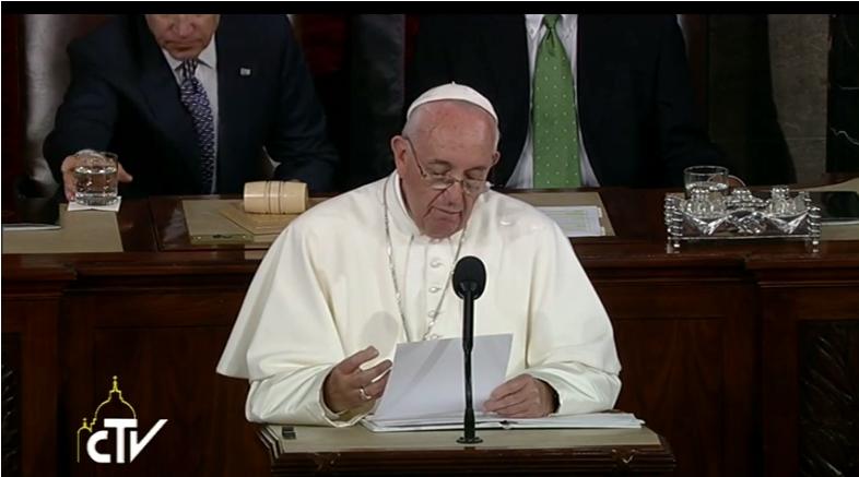 Papa Francesco al Congresso…….